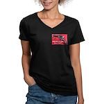 Free Men Own Guns Women's V-Neck Dark T-Shirt