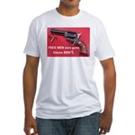 FREE MEN own guns Fitted T-Shirt
