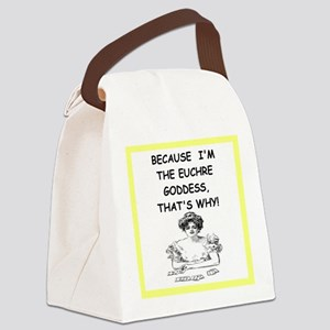euchre Canvas Lunch Bag