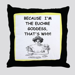 euchre Throw Pillow