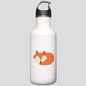 Sleepy Red Fox Stainless Water Bottle 1.0L