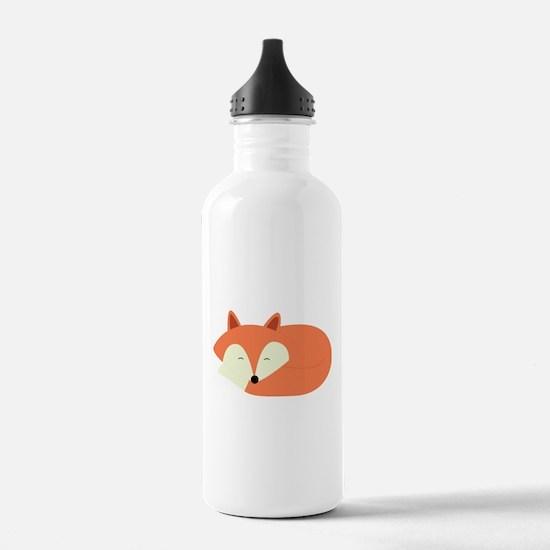 Sleepy Red Fox Water Bottle
