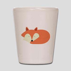 Sleepy Red Fox Shot Glass