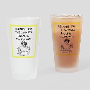 canasta joke Drinking Glass