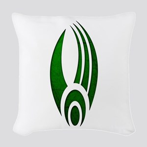 Distressed Borg Insignia Woven Throw Pillow