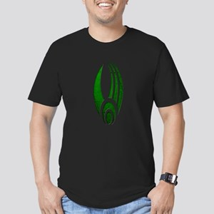 Distressed Borg Insignia Men's Dark Fitted T-Shirt