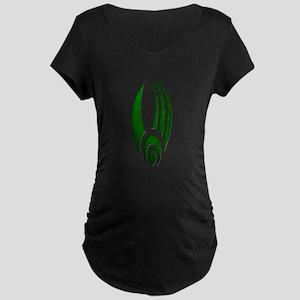 Distressed Borg Insignia Dark Maternity T-Shirt
