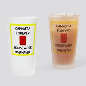 canasta joke Drinking Glass