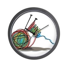 Time to Knit Wall Clock