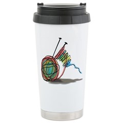Time to Knit Stainless Steel Travel Mug