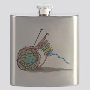 Time to Knit Flask