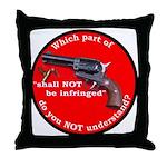 Infringement Throw Pillow