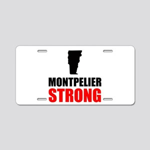 Montpelier Strong Aluminum License Plate