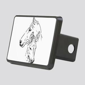 horse and mini donkey Hitch Cover