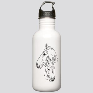 horse and mini donkey Water Bottle