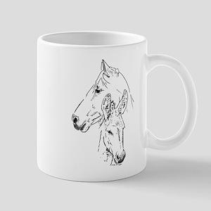 horse and mini donkey Mugs
