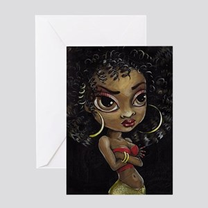Disco Diva Greeting Cards