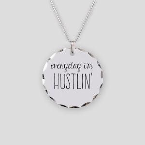 Hustlin Necklace Circle Charm