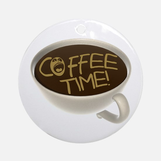 Coffee Time! Coffee Lovers Ornament (Round)