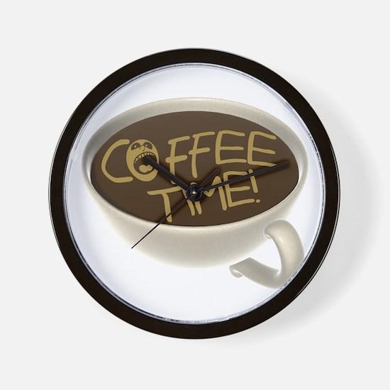 Coffee Time! Coffee Lovers Wall Clock