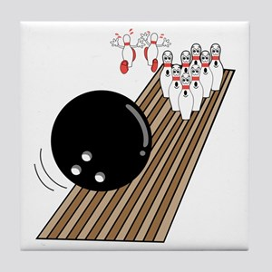 Bowling Lane Tile Coaster