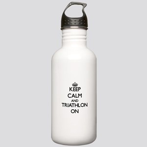 Keep calm and Triathlo Stainless Water Bottle 1.0L