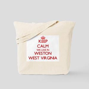 Keep calm we live in Weston West Virginia Tote Bag