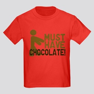 Must Have CHOCOLATE! Zombie Kids Dark T-Shirt