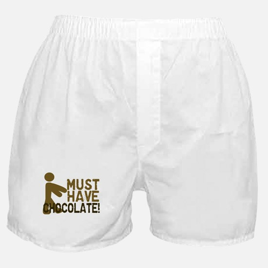 Must Have CHOCOLATE! Zombie Boxer Shorts