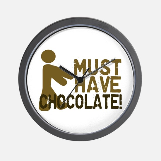 Must Have CHOCOLATE! Zombie Wall Clock