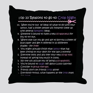 Top 10 {Crop Night} Throw Pillow
