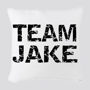Team Jake Scandal Woven Throw Pillow