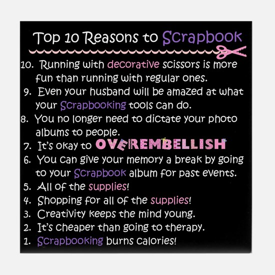 Top 10 {Scrapbook} Tile Coaster
