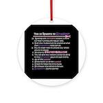 Top 10 {Scrapbook} Ornament (Round)