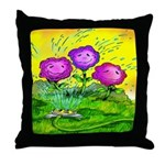 Flowers Keeping Cool Throw Pillow