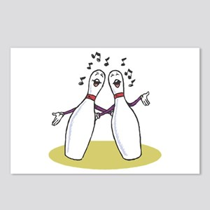 Singing Bowling Pins Postcards (Package of 8)