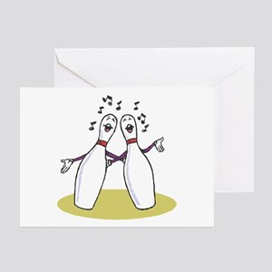 Singing Bowling Pins Greeting Cards (Pk of 10)