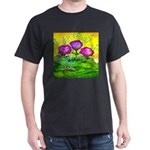 Flowers Keeping Cool Dark T-Shirt