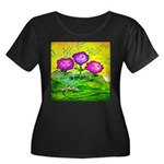 Flowers Keeping Cool Women's Plus Size Scoop Neck