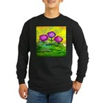 Flowers Keeping Cool Long Sleeve Dark T-Shirt