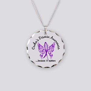 Crohn's Disease Butterfly 6. Necklace Circle Charm