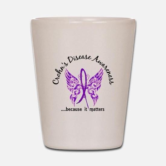 Crohn's Disease Butterfly 6.1 Shot Glass