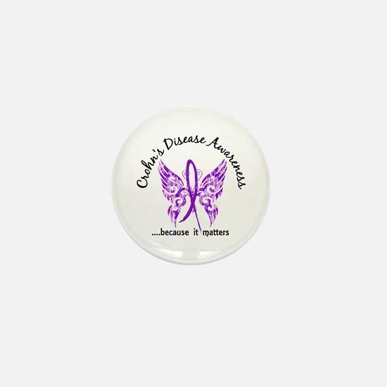 Crohn's Disease Butterfly 6.1 Mini Button