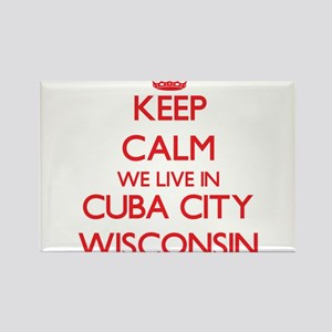 Keep calm we live in Cuba City Wisconsin Magnets