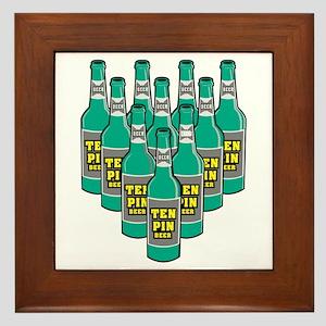 Beer Pins Framed Tile
