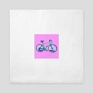 Bike Cycling Bicycle Pink Wondrous Vel Queen Duvet