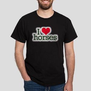 Love horses Dark T-Shirt