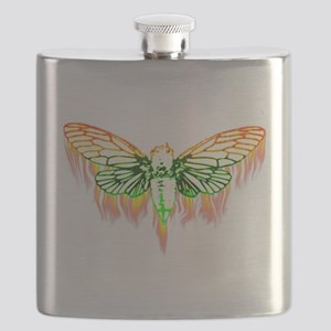 Flaming Cicada Flask
