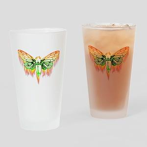Flaming Cicada Drinking Glass