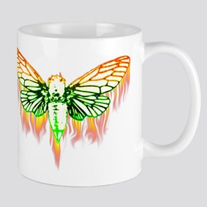 Flaming Cicada Mugs